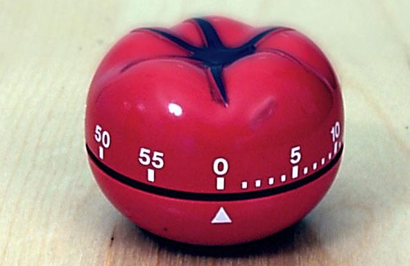 A pomodoro timer