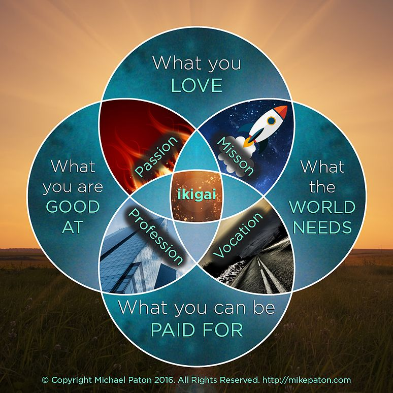 Ikigai image to inspire a social sabbatical