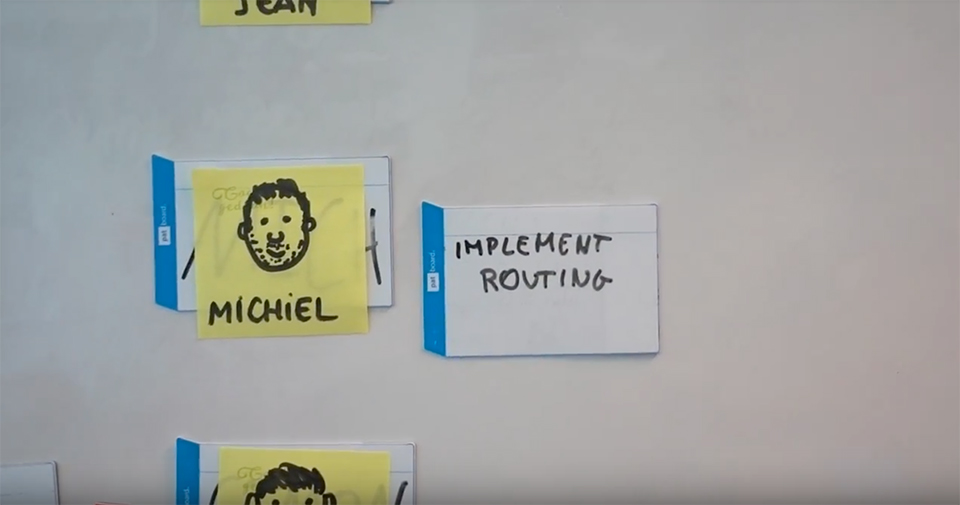 Todo overview with sticky notes on a wall